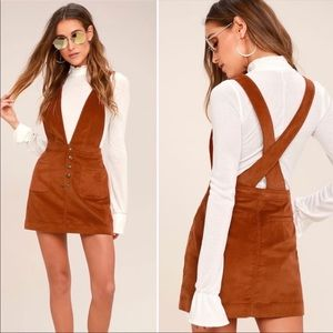 Free People Old School Love Overall Corduroy Dress
